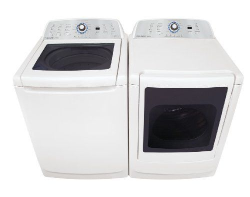 Frigidaire Top Load Washer & Electric Dryer Laundry Set FAHE4044MW_FARE4044MW 3.4 CU FT Washer with WaterFall Wash Technology with Immersion Care Action -  WaterFall Wash Technology thoroughly soaks the entire load while Immersion Care Action gently moves water and detergent through clothes for better cleaning.. DuraMotion Tub with Lifetime Warranty -  Seamless tub helps create unique water action... #Frigidaire #MajorAppliances