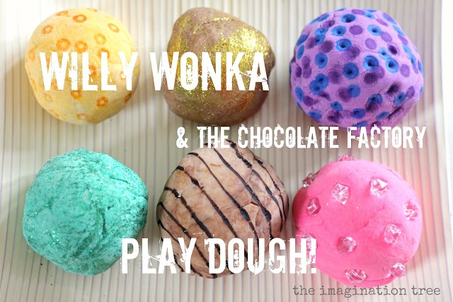 willy wonka play dough recipe ideas activities - so perfect for our current Unit study - Charlie & the Chocolate Factory