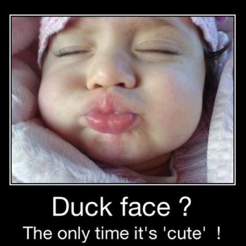 Cute Duck Face Meme | Slapcaption.com