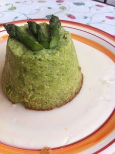Flan di asparagi e crema al parmigiano