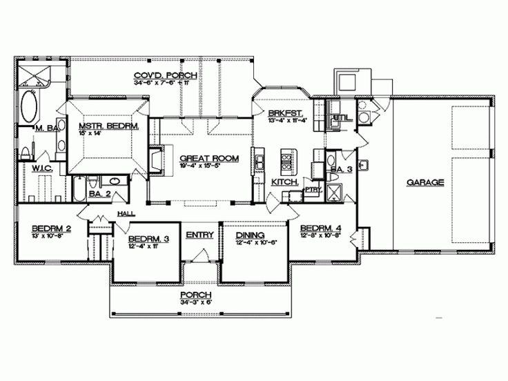 44 best possible house plans images on pinterest house - 4 bedroom split level floor plans ...