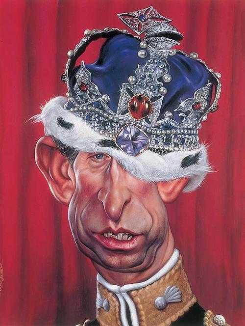 Prince Charles Caricatures by Sebastian Kruger