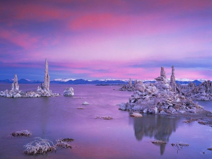Photo: Dan Smith. Mono Lake, California, is a fascinating 760,000 year old saline lake. It has no outlet to the ocean, and has become very salty and alkaline.
