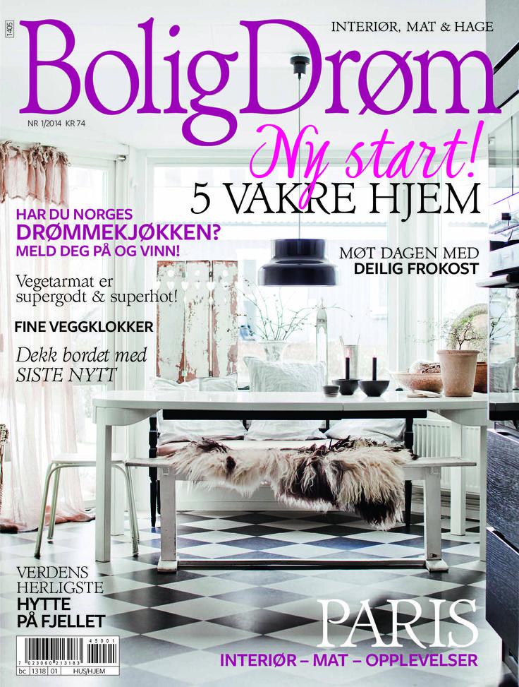 Forsiden til BoligDrøm nr 1/2014. Ny logo, ny layout - ny start!