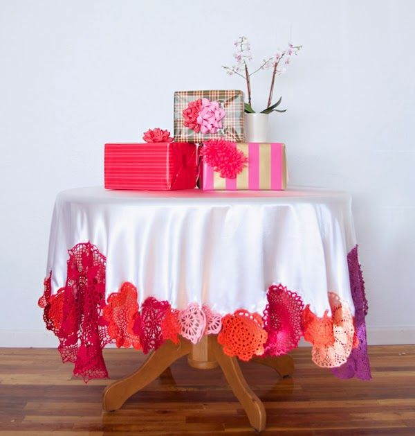 45 best tafeldoeke images on Pinterest Tablecloths Crafts and
