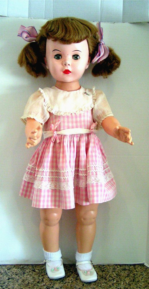Vintage 1959 Effanbee Mary Jane Doll- Playpal Sized-- Too Sweet!
