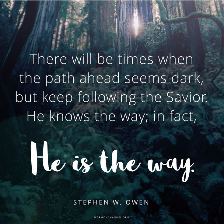Follow the Savior. He knows where you are and which path you should take. #DailyQuote