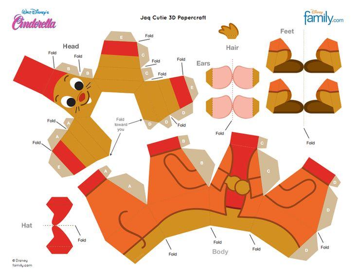 Jacque the Mouse 3D Paper Craft