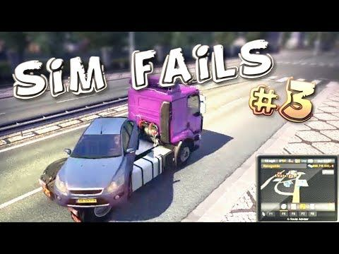 Simulation Games FAILS Compilation #3 (ETS2, ATS, OMSI2, BeamNG) - YouTube