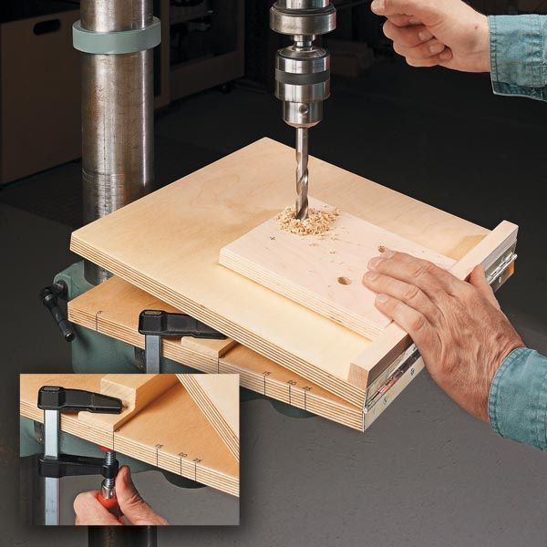 On a recent project, I needed to drill some angled holes. The task is a piece of cake with this shop-made jig.