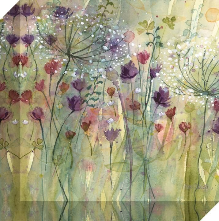 Spring Floral Pods ll Canvas Wrap by Catherine Stephenson - Decorative Art Centre