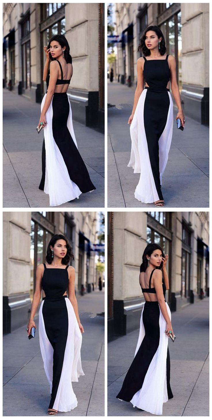 Sexy Dresses,Long Dresses,Splice Dresses,White and Black Dresses,Casual Dresses,Party Dresses,Summer Dresses,Summer Outfits