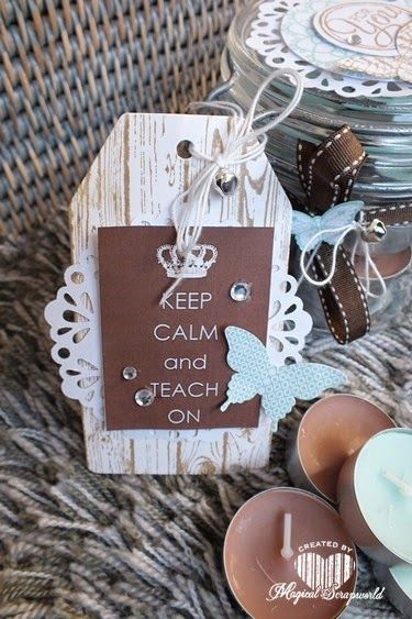 Magical Scrapworld: Keep calm and teach on teachers gift idee/juffendag cadeau