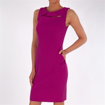 Anne Klein Fitted Sheath Dress with Crepe Texture #VonMaur #Magenta #Dresses