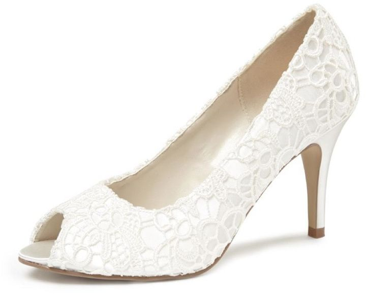 pink paradox London Cosmos Ivory Lace Heels #http://shopstyle.it/l/cHxt #wedding#chic