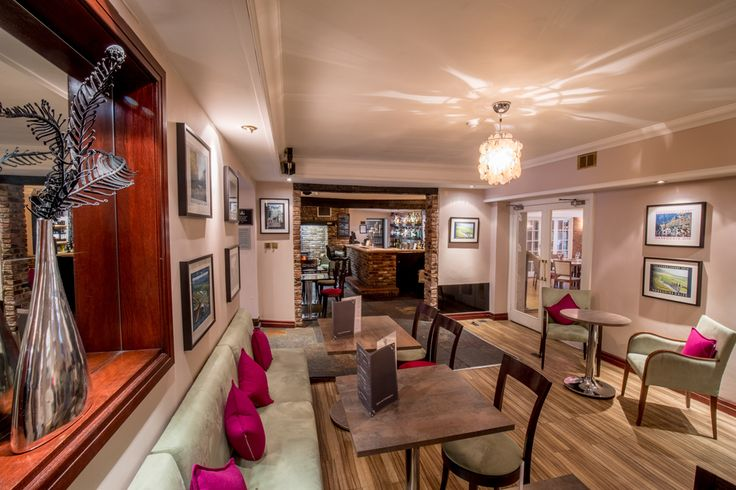 Great view of the bar and reception lounge