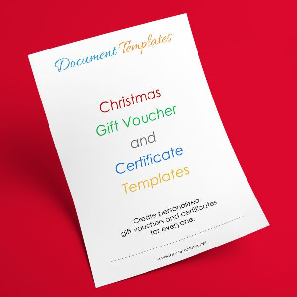 Permalink to 30+ Christmas Gift Certificate and Voucher Templates - create a voucher