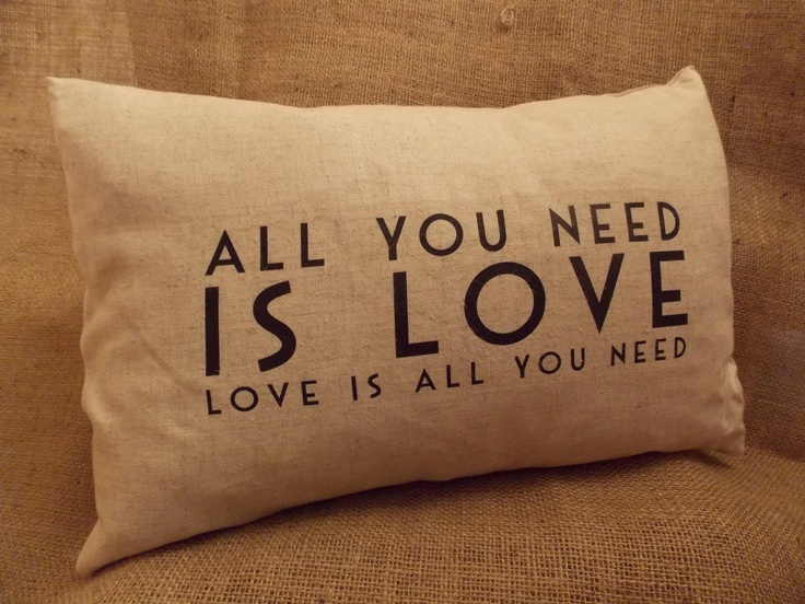 Luxury Feather Filled Cushion - All You Need Is Love, £16.50