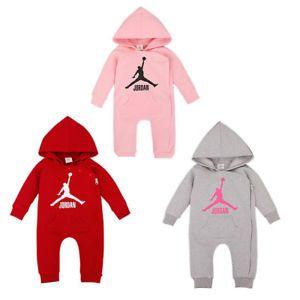 BABY JORDAN 23 ROMPER +HAT NEWBORN BOY GIRL BABYGROW OUTFITS CLOTHES  | eBay