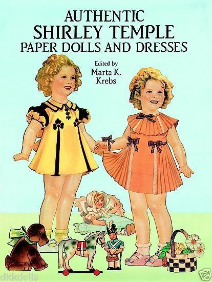 Authentic  Shirley Temple Paper Dolls in Full Color, Dover, reprod of 1937 dolls have been placed for sale on Ebay as a Buy-It-Now listing.