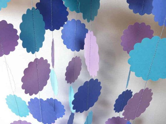 Birthday Garland Purple and Blue Party by FabulouslyHomemade, $10.00