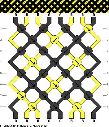 8 strings 8 rows 2 colors
