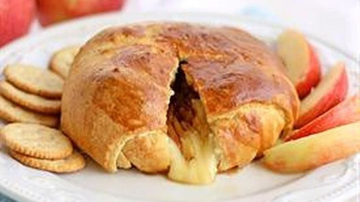 Brie, apples, and brown sugar are wrapped up in buttery crescent rolls. Eat this with apples or crackers for an elegant appetizer.
