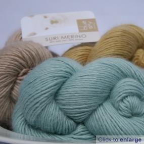 Blue sky Alpacas' Suri Merino, ludicrously soft and gorgeous