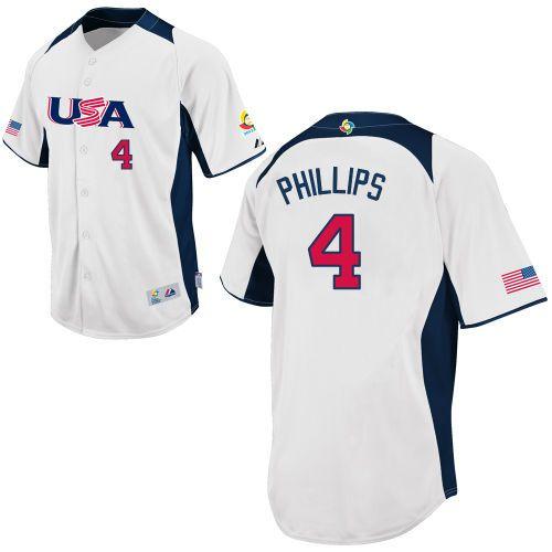 usa 2013 world baseball classic authentic brandon phillips home jersey mlb shop