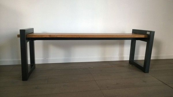 17 best images about wood tables on pinterest repurposed wood industrial bench and pallet wood. Black Bedroom Furniture Sets. Home Design Ideas