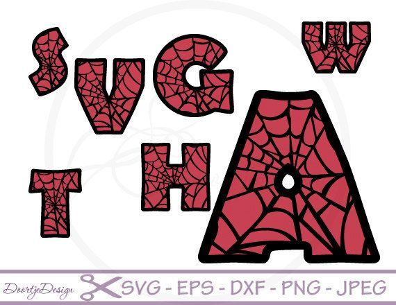 Font Letters SVG, Spiderman Alphabet svg files, svg files ...