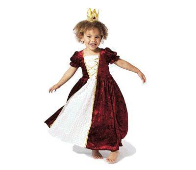 Kostyme, prinsesskjole i rød fløyel 4-6 år
