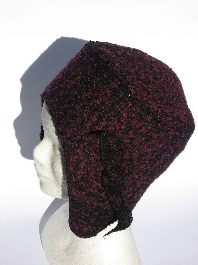 Berretto cappello aviatore bordeaux melange : Cappelli, berretti di janecolori