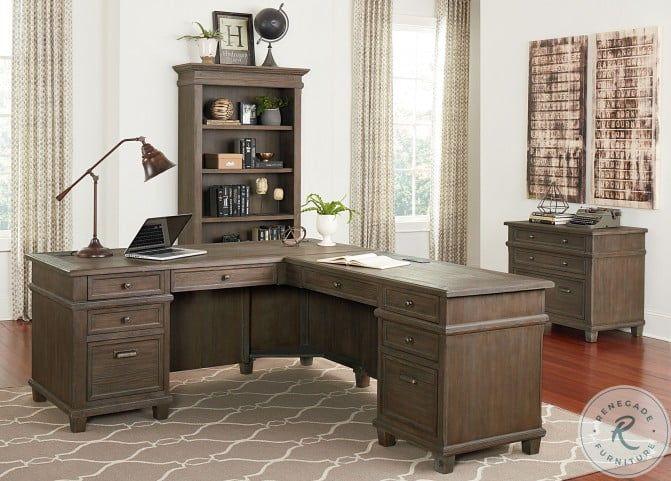 Rustic Dark Walnut L Shaped Desk Executive Western Solid Wood Free Ship L Shaped Desk Desk Cabins In The Woods