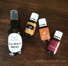 Copycat Poopourri Spray.. Poo Away Spray: using essential oils to create a bathroom spray