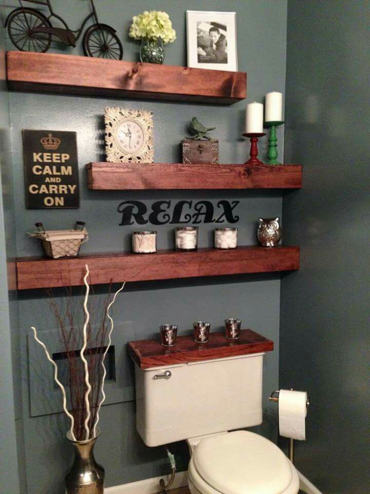 Love the paint color & the shelves