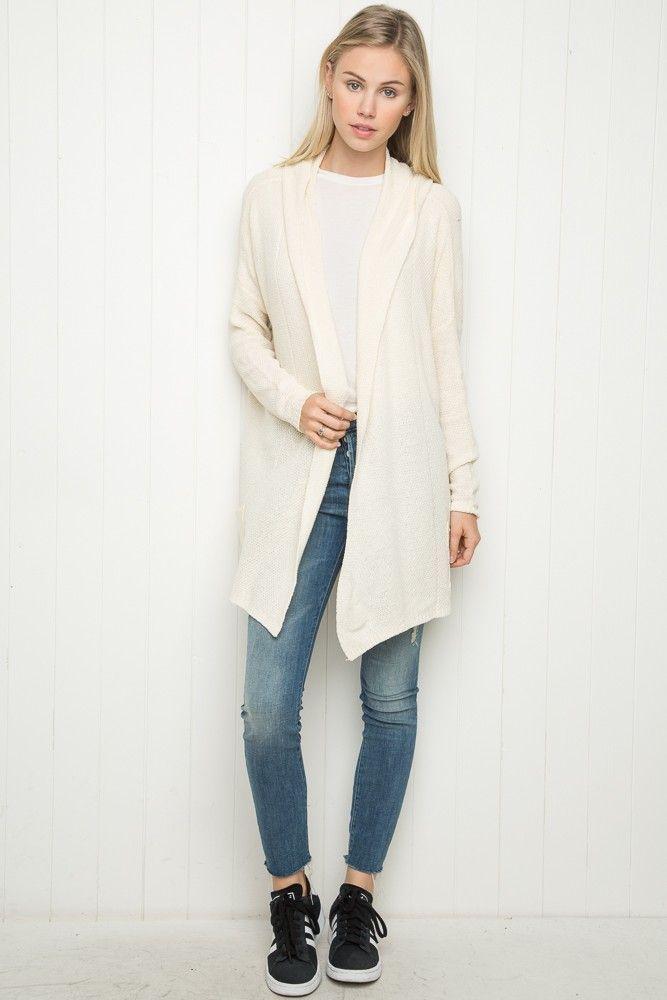 Brandy ♥ Melville | Ayara Hoodie Cardigan - Cardigans - Sweaters - Clothing