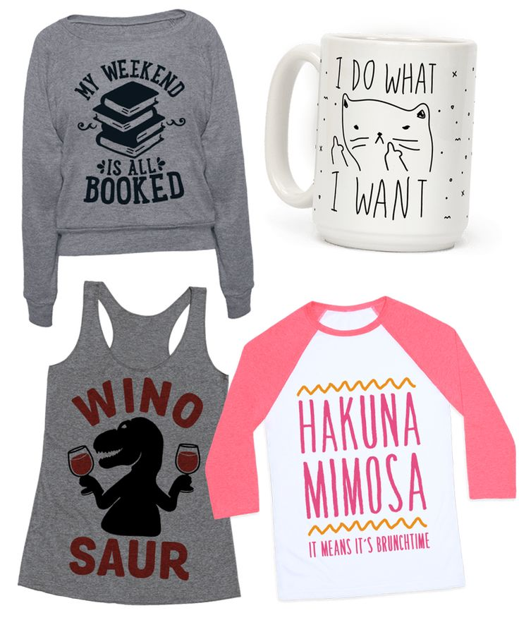 Check out our top trending designs! This collection is perfect for anyone who loves books, cats, wine, or brunch.  Free Shipping on U.S. orders over $50.00.