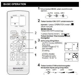 remote ac sharp tidak berfungsi,remote ac sharp terkunci,fungsi tombol remote ac sharp plasmacluster,cara membuka remote ac yang terkunci,