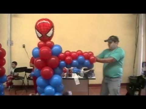curso decoracion con globos spiderman video 4 FIGURAS - YouTube