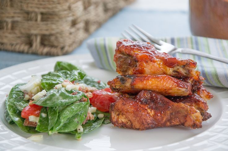 This easy recipe for Baked Sticky Chicken Wings will make you a hero at your house tonight- full of bbq flavour and easy on the cook!