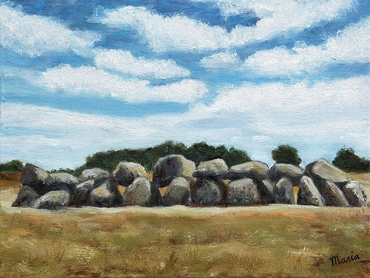 Dolmen in the Netherlands Oil painting by Maria Meester