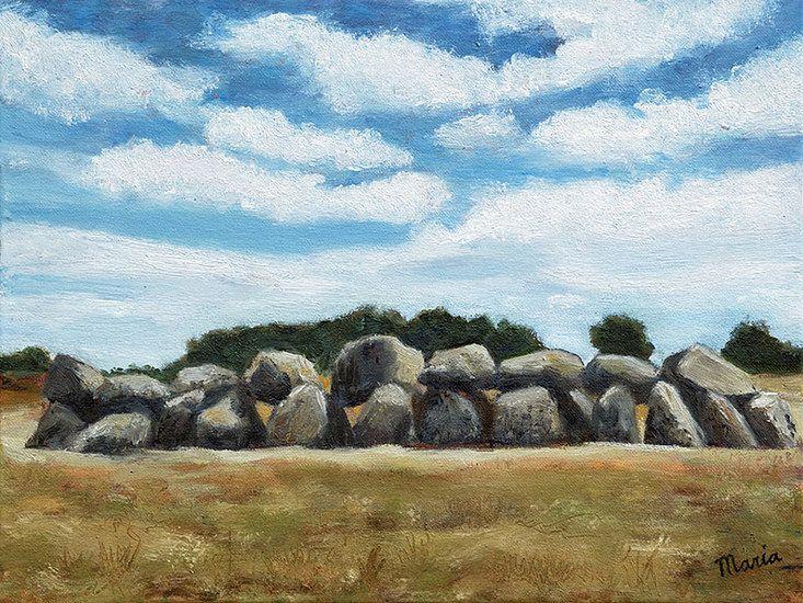 Hunebed Olieverf schilderij