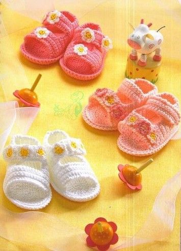crochet baby shoes!