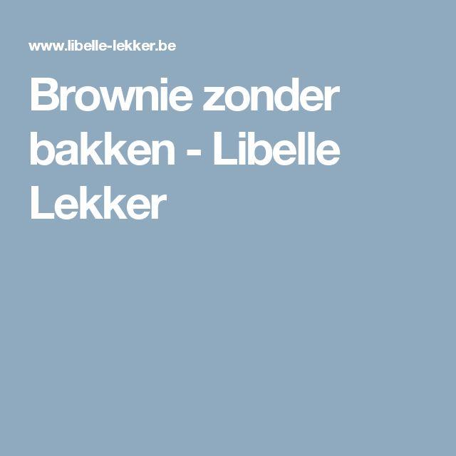 Brownie zonder bakken - Libelle Lekker