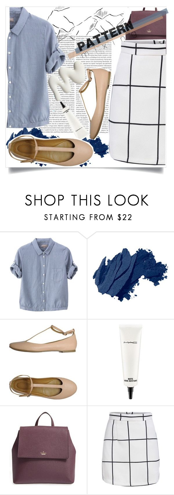 """Pattern Mixing"" by dreyanaxo ❤ liked on Polyvore featuring Oris, Margaret Howell, Bobbi Brown Cosmetics, MAC Cosmetics, Kate Spade, Summer, denim, polyvorecontest and patternmixing"