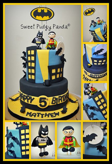 batman cake by sweet pudgy panda