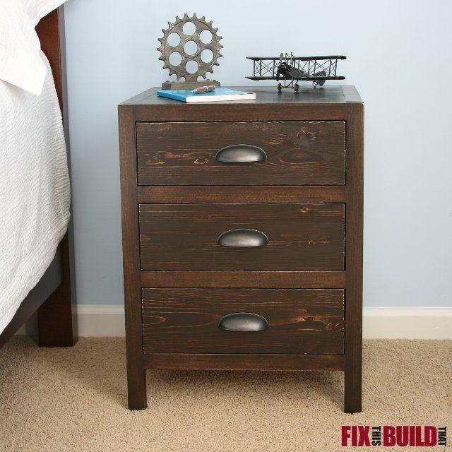 Diy 3 Drawer Nightstand Master Bedroom Tutorials