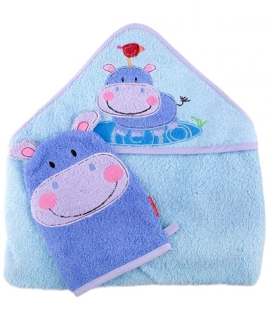 Fisher Price Discover and Grow Hooded Towel & Wash Mitt for Kids   Little Casa
