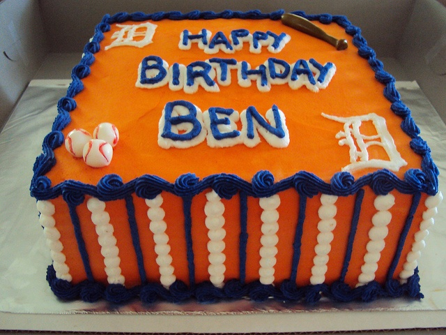 Detroit Tigers Birthday Cake